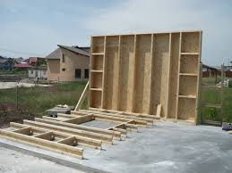 wood framed wall wood frame construction 2 story level house