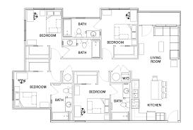 floor plans 601 copeland student housing tallahassee fl