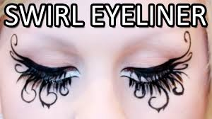 Eyeliner Halloween Makeup swirly liquid eyeliner makeup tutorial youtube