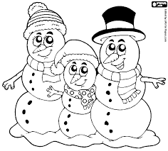 snowmen family coloring pages coloring pages