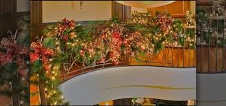 Banister Christmas Garland How To Decorate Your Staircase With A Golden Splendor Christmas