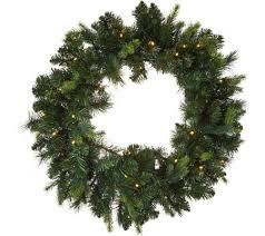 bethlehem lights prelit 24 green wreath page 1 qvc