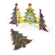 sizzix tree fold a card thinlits die set