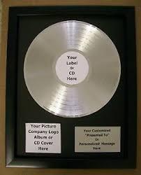 personalized record album personalized platinum silver record album award custom plaque riaa