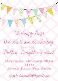 graduation party invitation digital file mother daughter