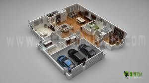 floor plan for 3d modern home with parking slot vietnam casa