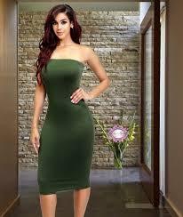 dress luxe aloure casual red black kim kardashian kim