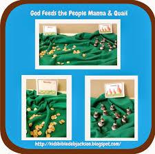 bible fun for kids moses manna u0026 quail to eat