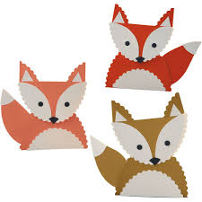thanksgiving place cards for kids to make diy fox place card kit at paper source woodland red riding