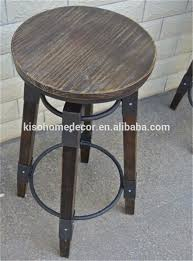 Wooden High Chair For Sale Factory Direct Sale Wrought Iron Solid Wood Bar Stool Bar Stool