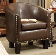 Leather Club Chair Amazon Com Rosevera Home Duilio Arm Club Chair Pu Leather Tub