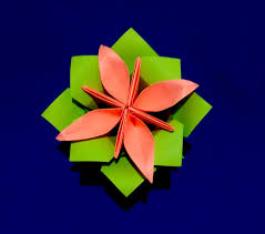 how to make origami paper flower base origami calyx christmas