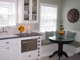 Kitchen Window Seat Ideas Dining Room Pedestal Dining Table With Cozy Banquette Seating And