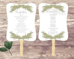 Wedding Program Hand Fans Modern Wedding Program Hand Fan Double Sided Wedding Hand Fan
