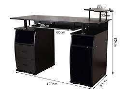 bureau informatique 120 cm bureau informatique multimédia multi rangements noir
