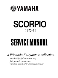 service manual yamaha scorpio 225 brake