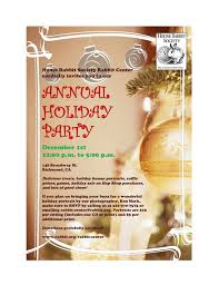 holiday party invitation 1 house rabbit society adoption and