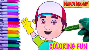handy manny coloring fun coloring activity kids toddlers