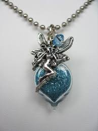 fairy necklace images Turquoise pixie dust necklace with fairy charm jpg