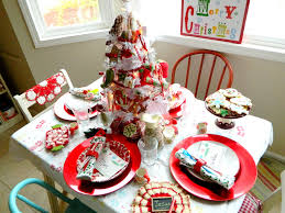frolicking freckles merry christ mas table setting 2011