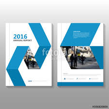 blue vector business proposal annual leaflet brochure flyer