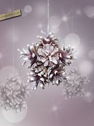 pinecone snowflake ornament craft ideas