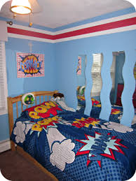 cool blue walls and ceilng accent for kids bedroom paint color