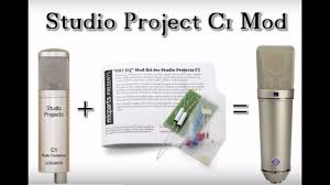 studio project c1 mod from microphone parts com youtube