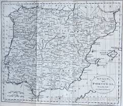 Portugal Spain Map by Map Of Spain And Portugal 1795