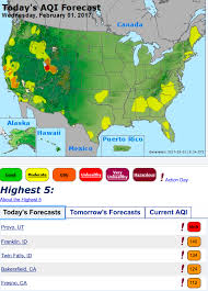 Utah Cities Map by Utah Cities Ranked With Worst Air Quality In Nation During