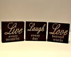 live laugh love home decor live laugh love wood sign live every moment laugh every day
