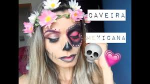 Halloween Skull Makeup Tutorial Maquiagem Passo A Passo Caveira Mexicana Half Face Skull Makeup