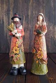thanksgiving pilgrim figurines harvest the patch