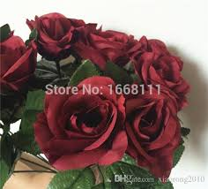 burgundy roses 2018 burgundy flower 30cm wine color roses for wedding