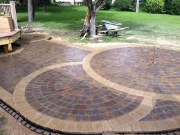 Brick And Paver Patio Designs Concrete Paver Patio Ideas Fascinating Concrete Patio Designs