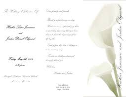 Church Programs For Wedding 100 Wedding Ceremony Program Template Adults Only Wedding