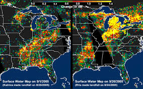 United States Storm Map by Space Images Distribution Patterns Of Landsurface Water From