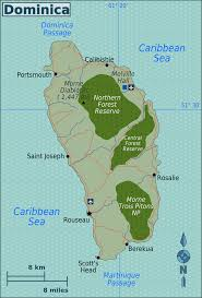 Caribbean Ocean Map by Dominica U2013 Travel Guide At Wikivoyage