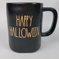 rae dunn new rae dunn happy halloween black coffee mug from