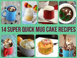 super quick mug cake recipes