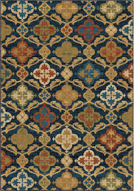 orian rugs bright color medallion tuscan field blue rug