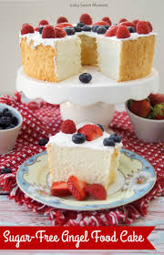 incredibly delicious sugar free angel food cake living sweet moments
