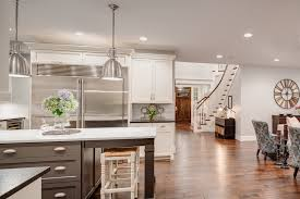 warm paint colors kitchen transitional with island lighting san