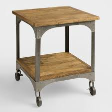 wood metal end table wood and metal aiden end table world market