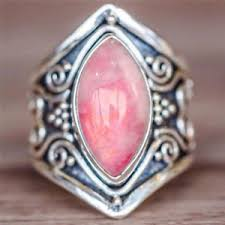 ebay rings opal images Retro beautiful fashion silver jewelry temperament pink opal ring jpg