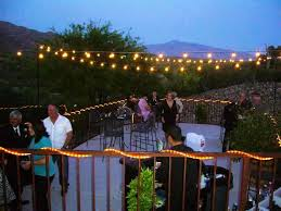 String Lights Over Pool by Outdoor Lighting Strings Ideas Sacharoff Decoration
