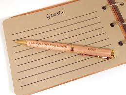 guest book pen memories for wood guest book pens