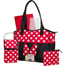 Minnie Mouse Bathroom Accessories by Disney Minnie Mouse 5 In 1 Diaper Tote Walmart Com