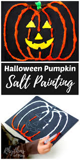 halloween pumpkin salt painting for kids rhythms of play