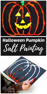 Halloween Pumpkin Salt Painting For Kids Rhythms Of Play